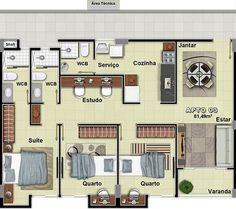 planta baixa casa terrea 200 metros 5 quartos - Pesquisa Google