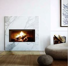 Fireplace and brass
