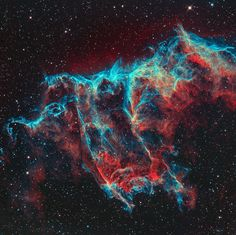 This wonderful astrophotography image of the veil nebula has become our go-to picture to get into the spacey Halloween spirit. It was taken by Toronto-based astronomers Paul Mortfield and Stef Cancelli and has appeared on  calendars around the world.