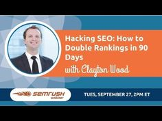 Hacking SEO: How To Double Rankings in 90 Days -   Social marketing packages at a fraction of the cost! Outsource now! Check our PRICING! #marketing #socialmedia #seo #optimization #social Clayton Wood joins SEMrush for a 5 step hacking roadmap explained in an actionable workshop style webinar. These are actionable things you can change to... - #SEOtips