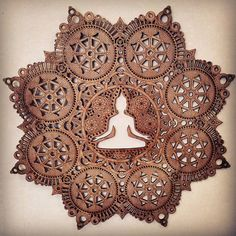 Meditation Mandala Laser geschnittene Holz von DanSchaubDesigns