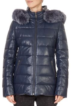 This is the stunning 'Angel' Short Navy Puffer Coat from our friends at Intuition! A cosy piece with a central zip fastening, side pockets, and a detachable hood. This is the perfect piece to carry you into the colder season! Winter Coats Women, Winter Jackets, Puffer Coat With Fur, Angel S, Green Shorts, Khaki Green, Intuition, Shop Now, Navy