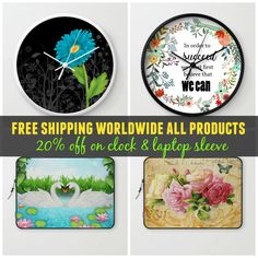 #freeshipping #worldwide TODAY only (2/25) & 20% off #sale #deals on #wallclock & #laptopsleeve Check more products at society6.com/julianarw