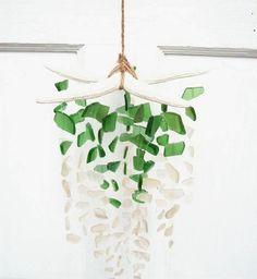 Items similar to Sea Glass & Starfish Mobile - Seafoam / Sea glass mobile, seaglass windchime, sea glass chandelier, sea glass suncatcher, sea glass art on Etsy Sea Glass Beach, Sea Glass Art, Sea Glass Necklace, Sea Glass Jewelry, Mobiles, Sea Glass Crafts, Beach Gifts, Crushed Glass, Coastal Art