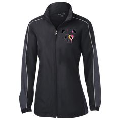 half elastic, half self-fabric cuffs Mesh lining and two slash pockets; Gently contoured silhouette Ladies matching wind pant, Decoration type: Embroidery Made by Sport-Tek® Size Chart Color Blocking, Windbreaker, Lady, Sports, T Shirt, Jackets, Collection, Fashion, Hs Sports