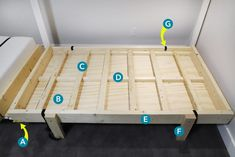 """Need a bed (or two) but don't have space for another permanent """"bedroom?"""" Is your old college futon/hand-me-down guest bed/blow-up mattress no longer cutting it? We have a solution -- DIY your own Murphy bed! Check out our project and get inspired! Murphy Bed Kits, Build A Murphy Bed, Murphy Bed Plans, Murphy Beds, Armoire Ikea, Bed Lifts, Shed Interior, Diy Furniture Projects, Ikea Furniture"""