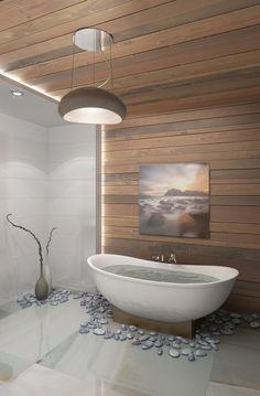 Дерево и камень или ванная мечты - Villeroy & Boch: реализованные проекты и ванная комната мечты | PINWIN - конкурсы для архитекторов, дизайнеров, декораторов