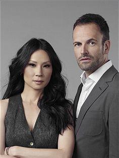 Lucy Liu and Jonny Lee Miller, TV Guide, October 14, 2013