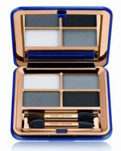 Estee Lauder Signature Eyeshadow Quad in Black Smoke from the Blacker Than Black Collection #vintage