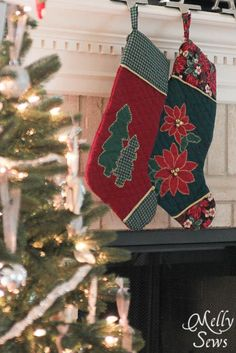 Christmas stocking pattern and tutorial