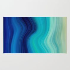 SEA BEAUTY 2 Area & Throw Rug by Catspaws - $28.00 blue aqua teal turquoise