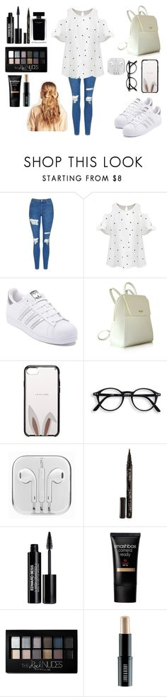 """""""Без названия #569"""" by aleksandra-203 ❤ liked on Polyvore featuring Topshop, Chicnova Fashion, adidas, Kate Spade, Smith & Cult, Edward Bess, Narciso Rodriguez, Smashbox, Maybelline and Lord & Berry"""