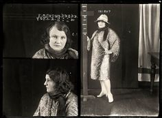 17 mug shots of women from the early 1900's. Fascinating just looking at their faces - wondering what they did!