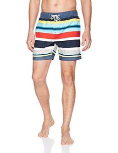 2058bbcc318d1 Original Penguin Men's Large Stripe Printed Elastic Volley Swim Short Review