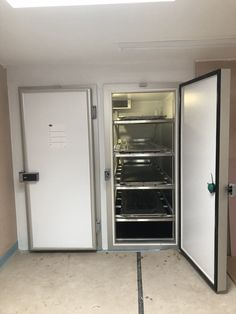 2 door mortuary fridge from Made to measure with obese specification, fully adjustable racking 01283 Lease purchase pay monthly Funeral equipment finance