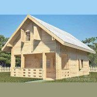 Drewniany domek letniskowy Alicja 62 + 18 m2 | domkiletniskowe.org Modern Bungalow House, Wooden House, Cottage Homes, Home Fashion, Log Homes, House Floor Plans, Sweet Home, Shed, Villa