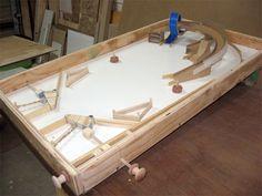 Tabletop Pinball Made of wood