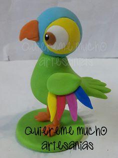 SOUVENIRS ZENON LORITO PEPE PORCELANA FRIA Fondant Figures, Clay Figures, Chocolate Fondant, Pasta Flexible, Air Dry Clay, Photo Displays, Biscuits, My Design, Toys