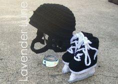 The Pro - Hockey Set, Crochet Photo Prop.