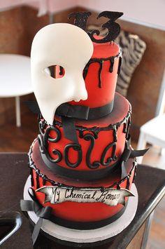 Phantom of the Opera inspired cake #thecakemamas