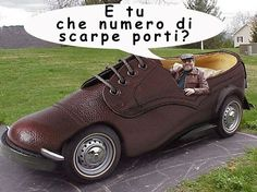 Curiosità dal mondo delle scarpe..opss ..delle auto!   #fotostrane #auto #crazyphoto #chenumerodiscarpeporti