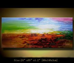 Original Abstract Painting, Modern Landscape Painting ,Palette Knife, Home Decor, Textured Painting on Canvas  by Chen n005 on Etsy, $291.91 AUD