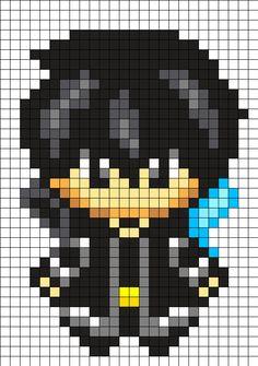 Kirito - Sword Art Online Perler Bead Pattern