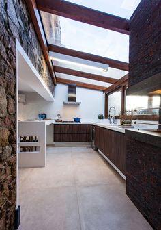 Cozinha + Cobertura de Vidro