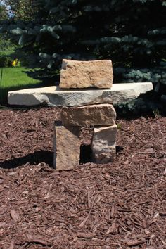 "Inuksuk - A Unique Landscaping Feature! - Sweet Anne Designs I learned something new! Cairns built to resemble a human form are referred to as ""Inuksuk"" by Inuit Indian Eskimos!"