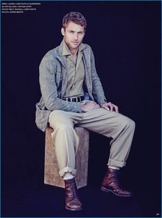 Kacey Carrig has a military style moment in a monochromatic number for the pages of Long Island Pulse.