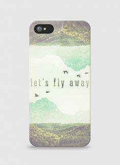 Iphone case Let's fly away by Serge on Triaaangles