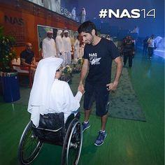 H.H Sheikh Hamdan bin Mohammed bin Rashid Al Maktoum, with Mr. Majid Abdullah Al Usaimi at the opening of NAS Sports tournament 2014 at Nad Al Sheba. ▃▃▃▃▃▃▃▃▃▃▃▃▃▃▃▃▃▃ emojirepost from @NasSportsDubai