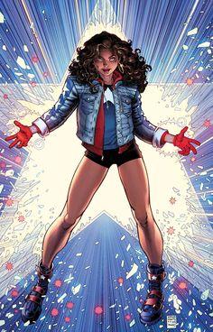 Miss America (America Chavez) by Arthur Adams Marvel Dc Comics, Ms Marvel, Dc Comics Women, Marvel Women, Marvel Girls, Comics Girls, Marvel Art, Marvel Heroes, Captain Marvel