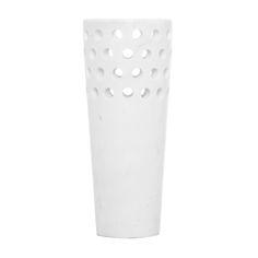 Kelly Wearstler Perforated Marble Vase @ Pieces