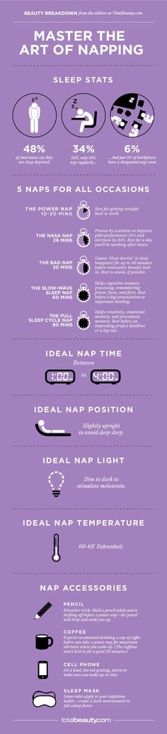 Master The Art Of Napping sleep nap interesting infographic infograph napping