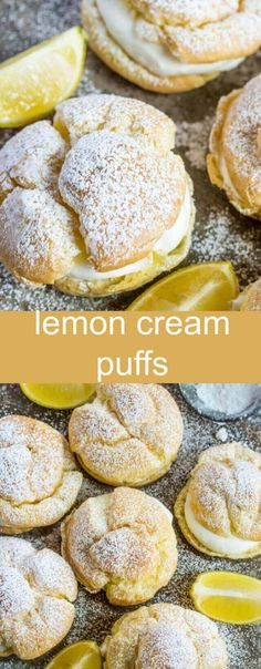 Lemon Cream Puffs {An Easy Lemon Twist on a Classic Recipe} cream puff/lemon/des. - Lemon Cream Puffs {An Easy Lemon Twist on a Classic Recipe} cream puff/lemon/dessert Light and deli - Lemon Dessert Recipes, Easy Appetizer Recipes, Köstliche Desserts, Baking Recipes, Sweet Recipes, Healthy Lemon Desserts, Lemon Recipes Easy, Light Dessert Recipes, Easy Pastry Recipes