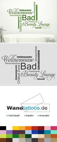 Wandtattoo Bad Wortwolke Schriften als Idee zur individuellen Wandgestaltung. Einfach Lieblingsfarbe und Größe auswählen. Weitere kreative Anregungen von Wandtattoos.de hier entdecken!