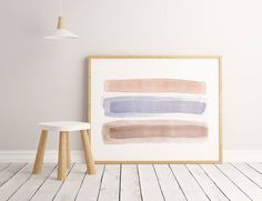 Minimalist Large Abstract Painting Interior Design Art Giclee Print Watercolor Painting by AcrylicVSWatercolor Interior Paint, Interior Design, Watercolor Paintings Abstract, Giclee Print, Design Art, Minimalist, Furniture, Home Decor, Nest Design