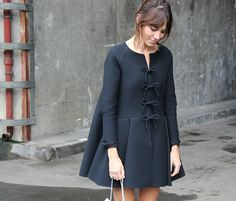 Red Valentino Bow Coat on Alexa Chung - Daily Cup of Couture