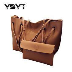 YBYT марка 2017 новый повседневная женщины сумка композитный сумочка дамы pack hotsale простой большой емкости свежие женщин сумки на ремне,