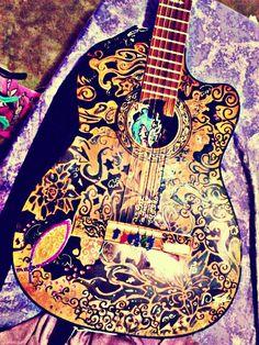#mi guitarra #dibujo #diseño #ariaz #zaito #música