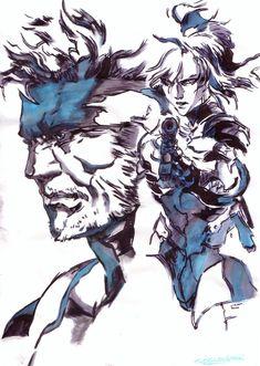 Solid Snake and Raiden Yoji Shinkawa by Thestickibear on DeviantArt