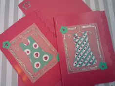 Cute Little Vintage Dress Fuchsia Note Cards Set by urbaneprincess, $4.00