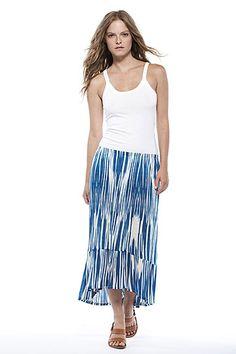Tullie Key West Print Midi Skirt by Velvet