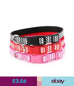 Collars Zig Zag Dog Collar And Matching Lead Set - Puppy And Dog #ebay #Home & Garden