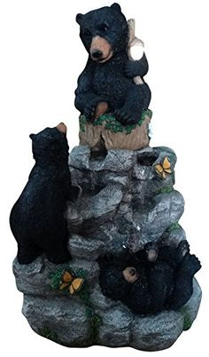 Alpine Corporation Black Bears Climbing Fountain with LED Light ** Check this awesome product by going to the link at the image. Note: It's an affiliate link to Amazon