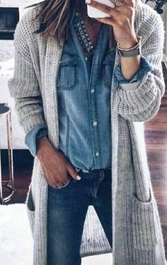 31 Cardigan and Sweaters You Should Buy This Winter/Fall To Keep You Hot - Style Spacez Source by katharinahoneyb outfits fashionista Mode Outfits, Fall Outfits, Casual Outfits, Ladies Outfits, Preppy Winter Outfits, Summer Outfits, Style Outfits, Outfit Styles, Casual Styles