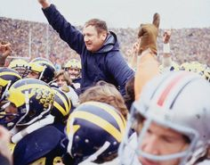 Home: Bentley Image Bank, Bentley Historical Library Michigan Wolverines Football, Ohio State Buckeyes, College Football Coaches, Football Team, Three Rivers Michigan, Bo Schembechler, Steelers And Browns, Michigan Blue, Go Big Blue