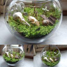 Pet cemetary terrarium