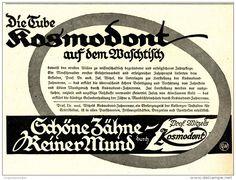 Original-Werbung/ Anzeige 1920 - PROF. WITZELS KOSMODONT ZAHNCREME - ca. 180 x…